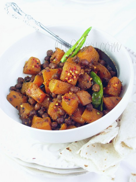 Butternut Squash with chickpeas