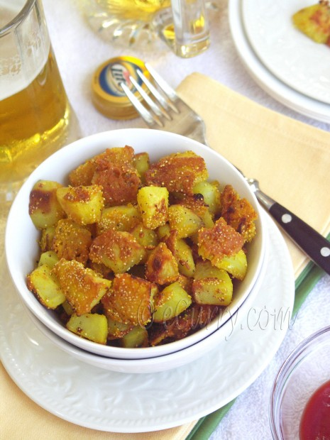 Poppy Seed Crusted Potatoes