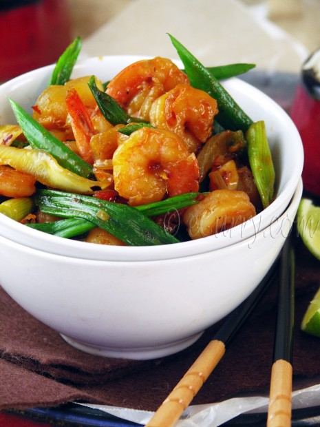 Shrimp with Chile Tamari Sauce