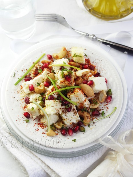 Paneer with Cashew, Pomegranate and Sumac