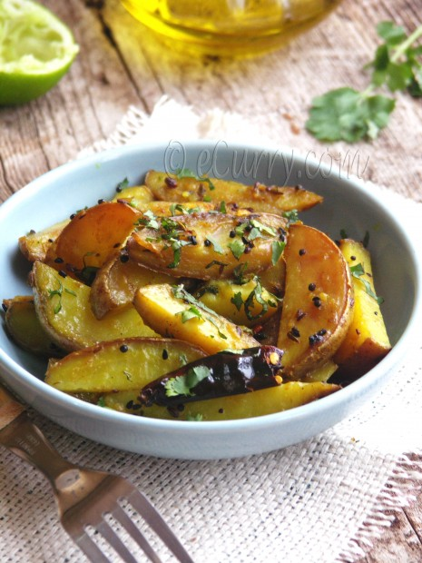 Potatoes with Indian Five Spice | eCurry - The Recipe Blog