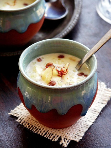Sabudana Kheer: Tapioca Pudding with Saffron and Nuts | eCurry - The ...