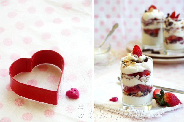 Strawberry Mascarpone Parfait - Valentine's Day