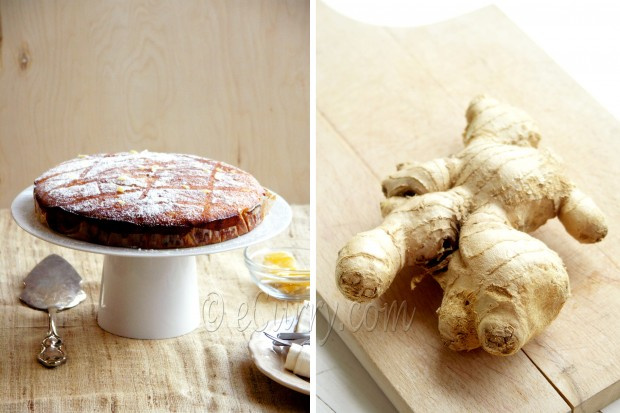 Pineapple Orange Ginger Cake Diptych