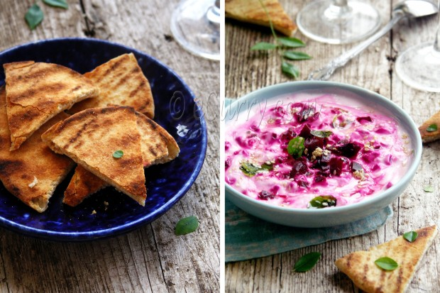 Pita and Beetroot Raita