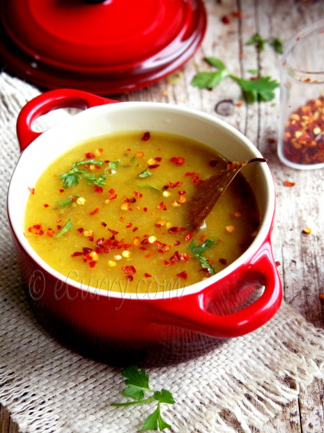 Bhaja Muger Dal/Roasted Mung Soup