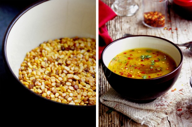 Bhaja Nuger Dal/Roasted Mung Soup