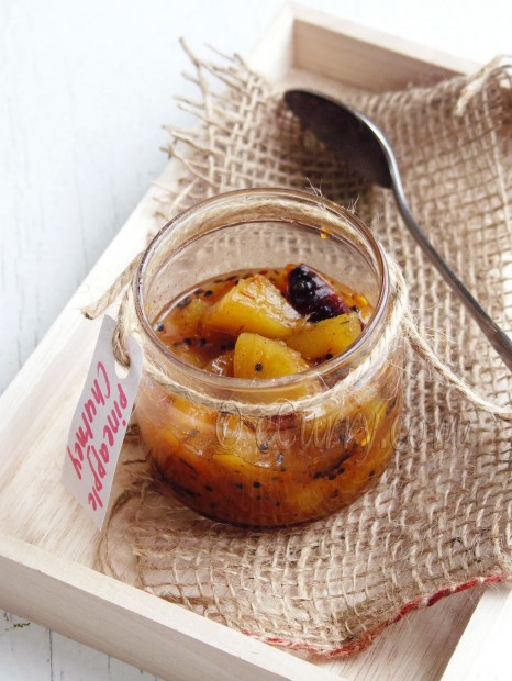 Pineapple Chutney/Anarosher Chutney