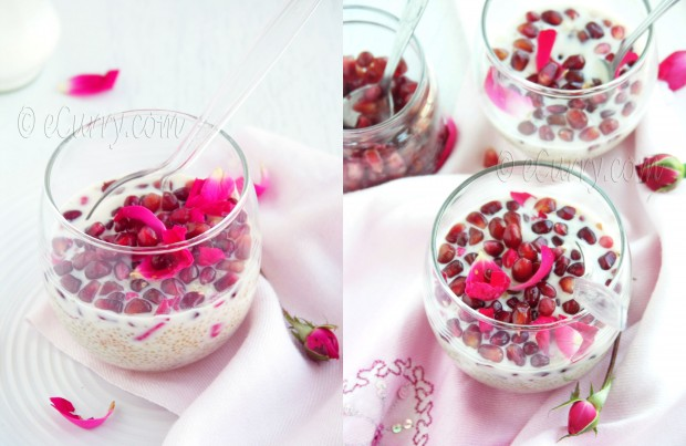 Quinoa Pudding with Rose and Pomegranate