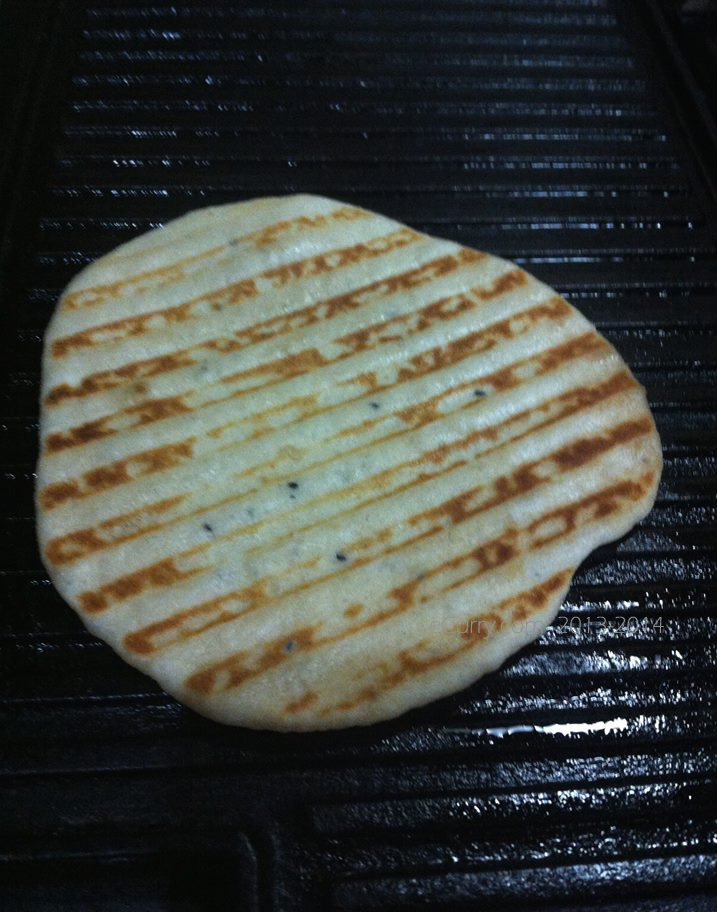 naan with grill marks