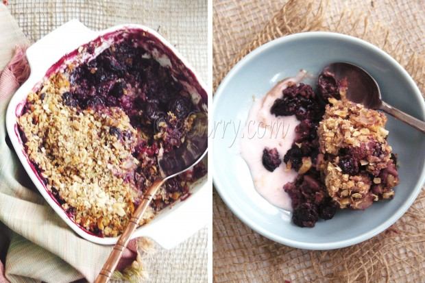 Berry Nut Crisp - Summer Dessert