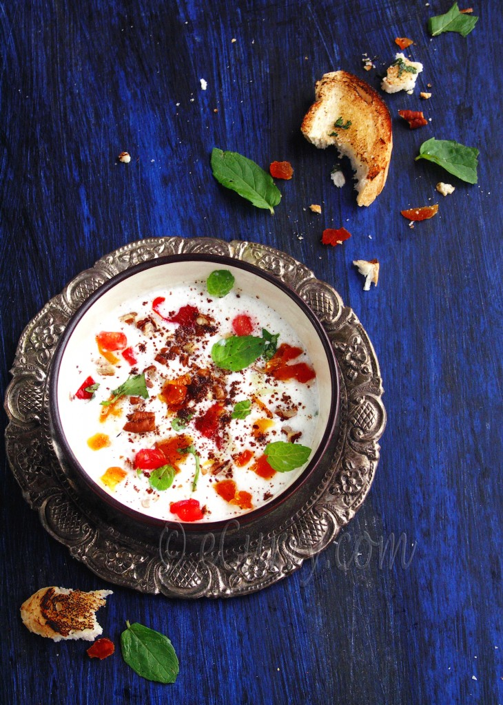 Chilled Minty Yogurt Nut Soup