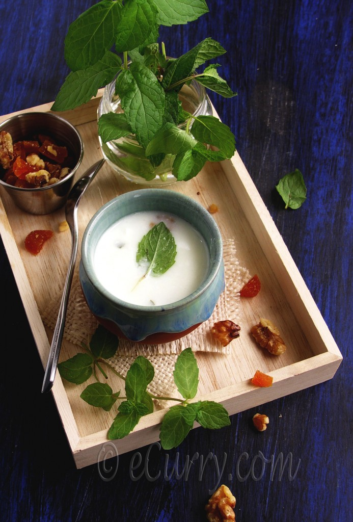 Chilled Minty Yogurt Nut Soup _Ingredients