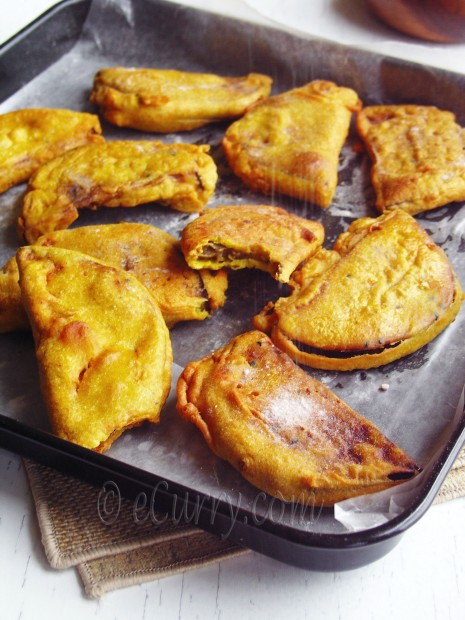 Beguni- batter fried eggplants