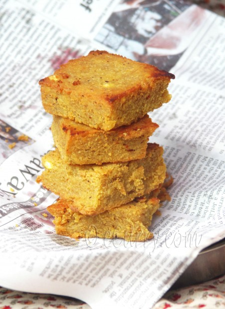 Dhoka - lentil cakes