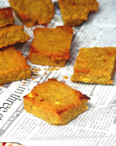 Dhoka- fried lentil cakes