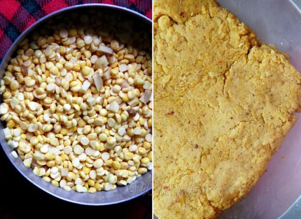 Dhoka - traditional bengali lentil cake