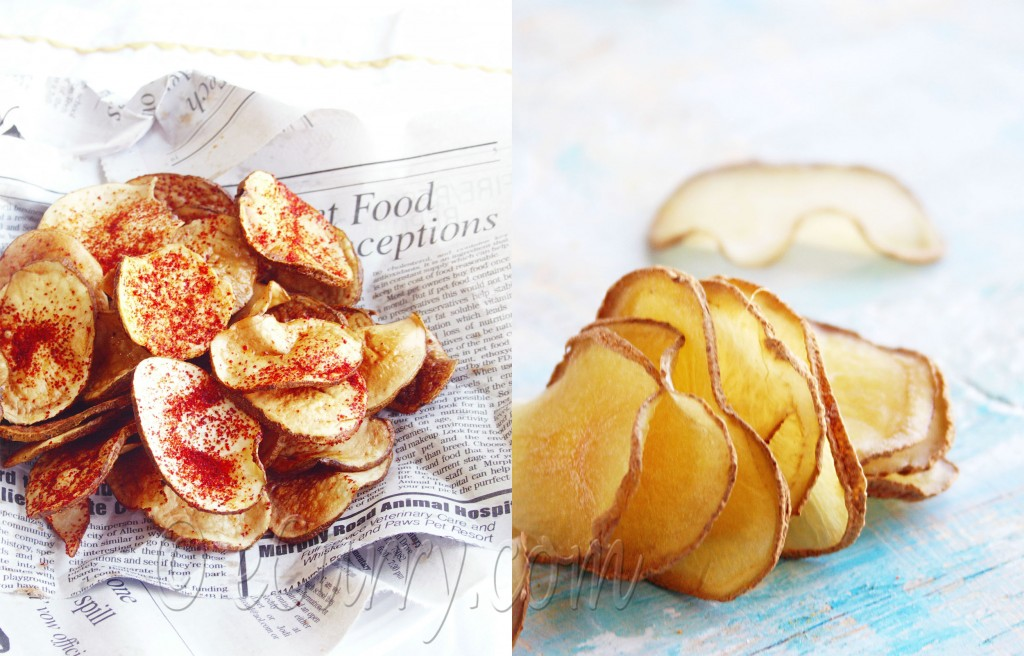 Sun Dried Potato Chips - how to
