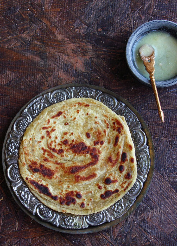 Lachha/lachcha Paratha- layered flat bread