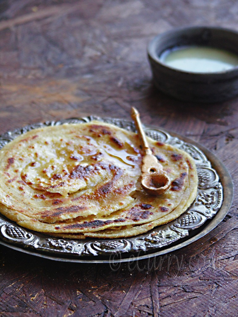 Lachha Paratha – Layered Griddle Cooked Flatbread | eCurry - The ...