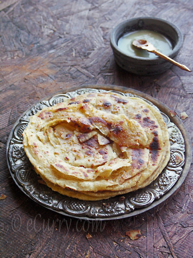 Lachha Paratha - Griddle Cooked Layered Flat Bread