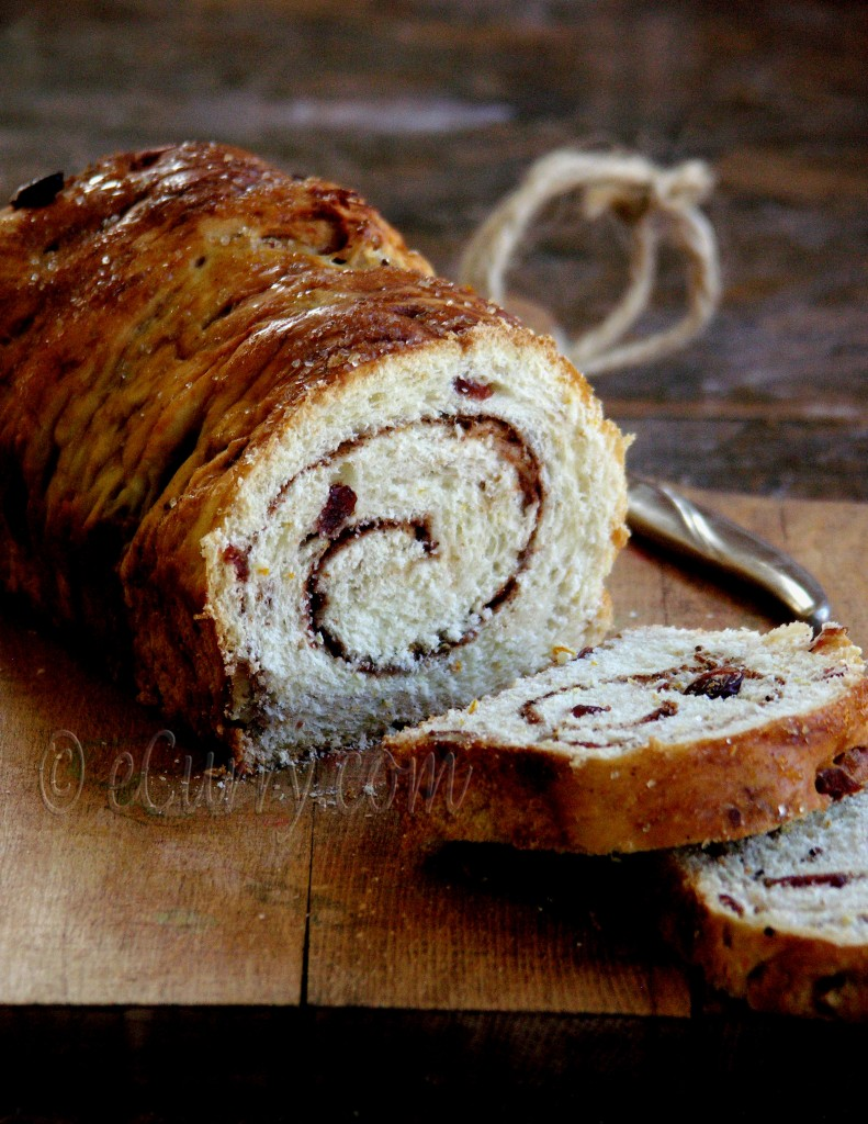 Cranberry Nut Swirl Bread