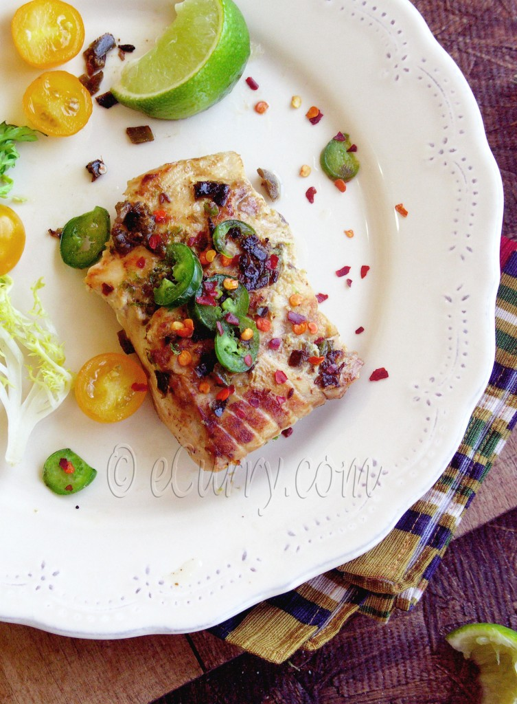 Jalapeno, Cumin and Lime rubbed Salmon | eCurry - The Recipe Blog