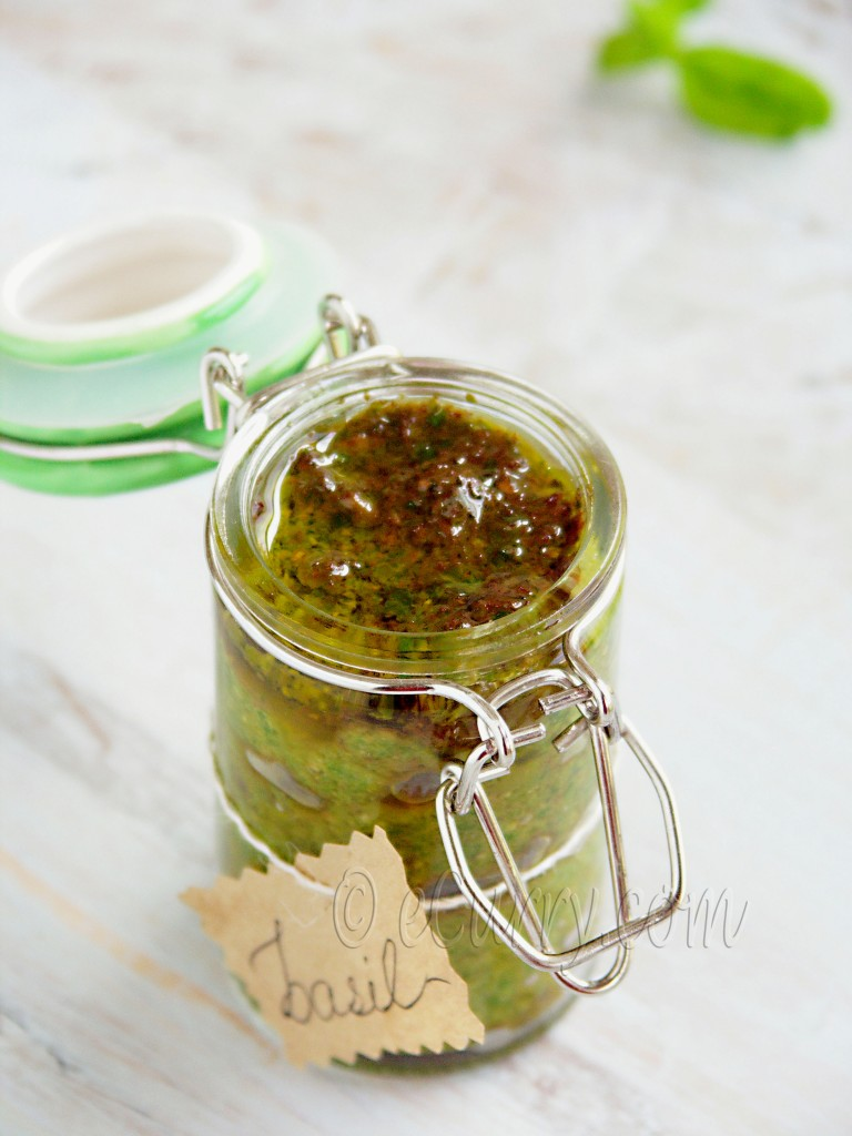 Vegan Basil Pesto, easy basil pesto recipe, how to make basil pesto ...