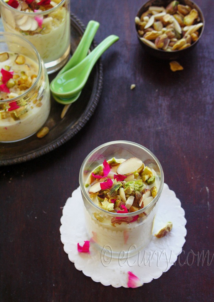 Rice Pudding With Pistachios, Raisins And Saffron Recipe — Dishmaps