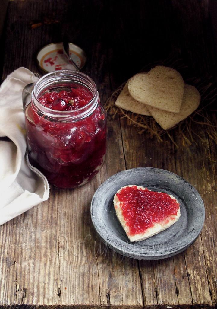 Spiced Cranberry Apple Jam/Chutney | eCurry - The Recipe Blog