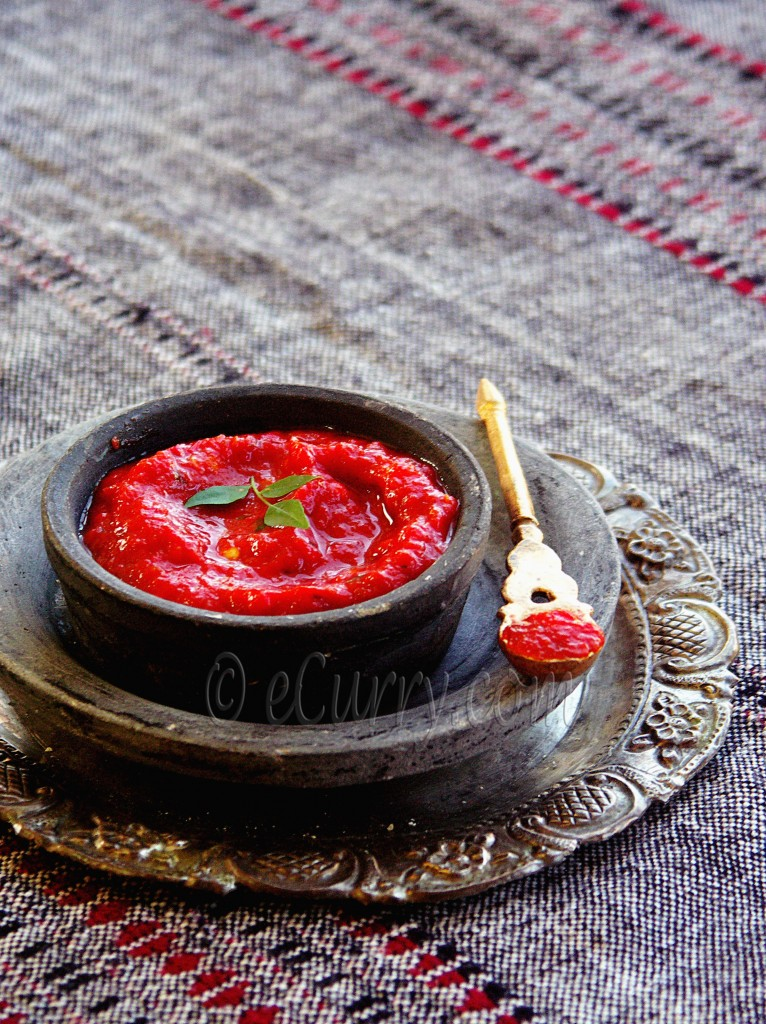 Roasted Tomato and Red Bell Pepper Chutney/Sauce | eCurry - The Recipe ...
