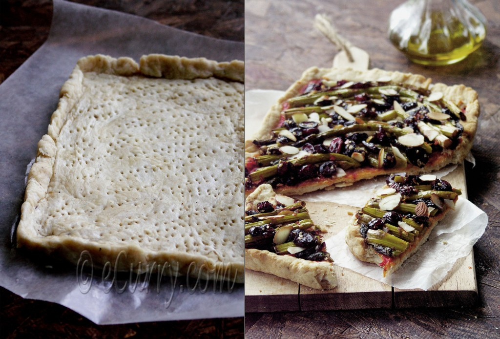Asparagus and Cranberry Tart
