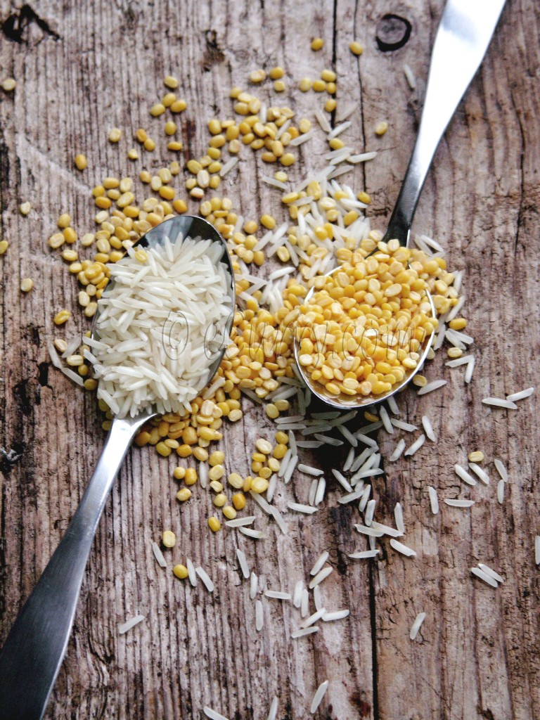 Rice amd mung- ingredients for Khichuri/Khichdi