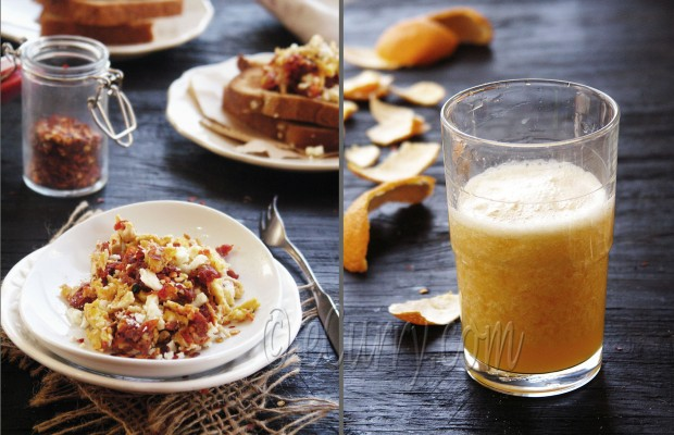 Scrambled Eggs with Sun-Dried Tomatoes and Feta | eCurry - The Recipe ...