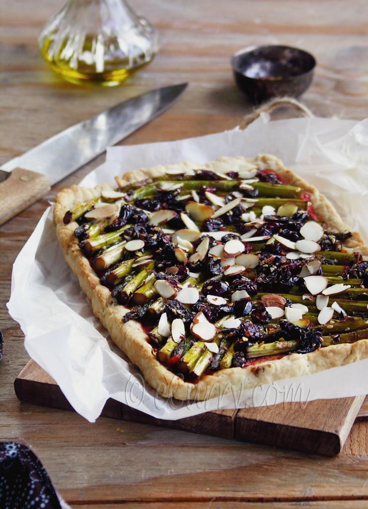 asparagus cranberry tart