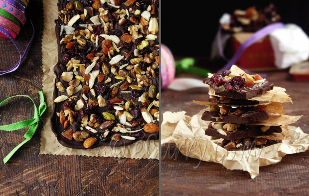 chocolate bark diptych 