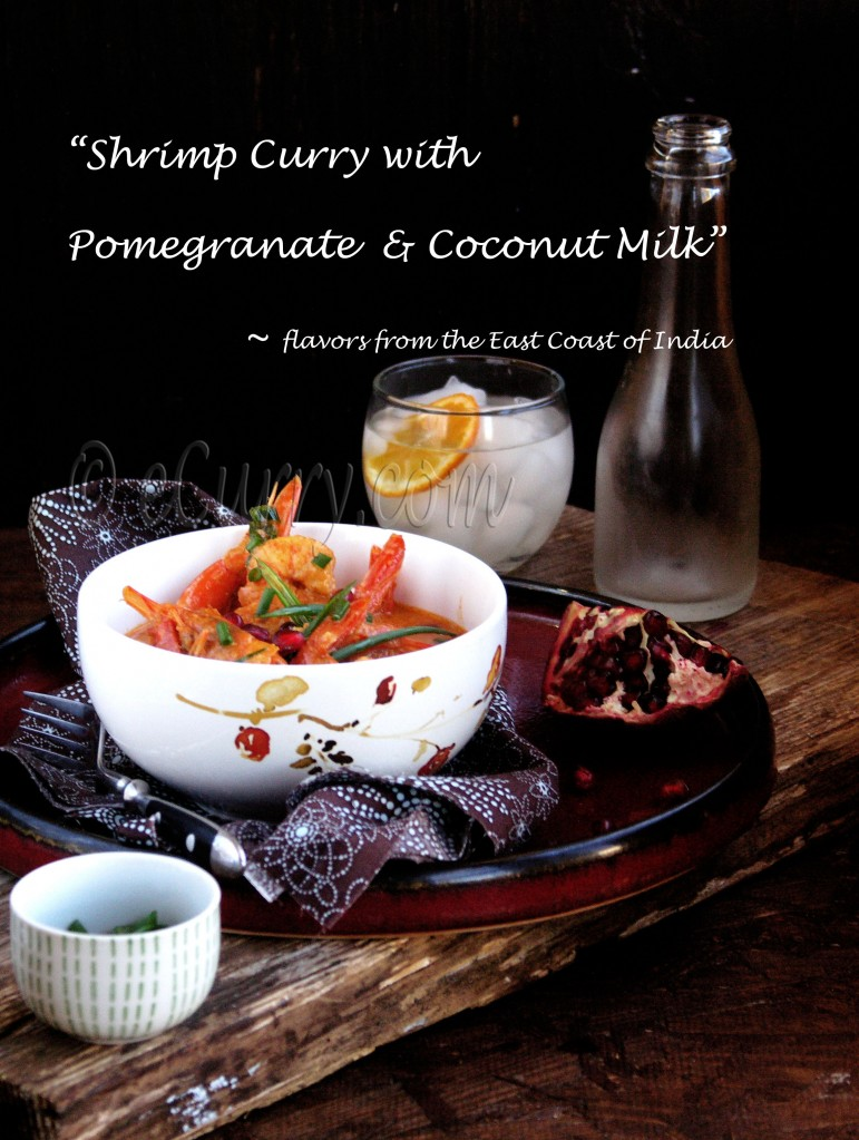 Shrimp with Pomegranate and Coconut Milk