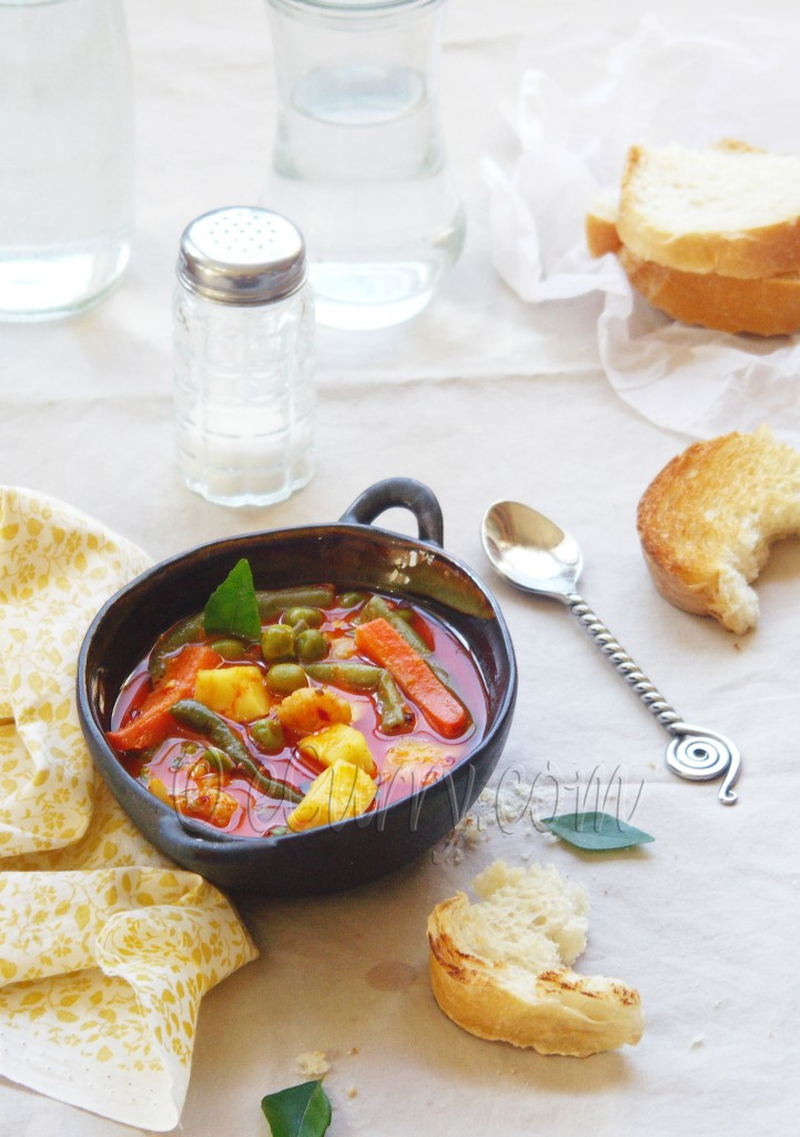 vegetable stew in coconut milk
