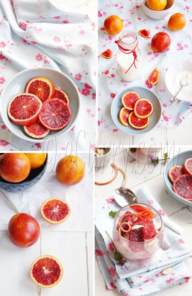 Blood Orange Mousse Collage