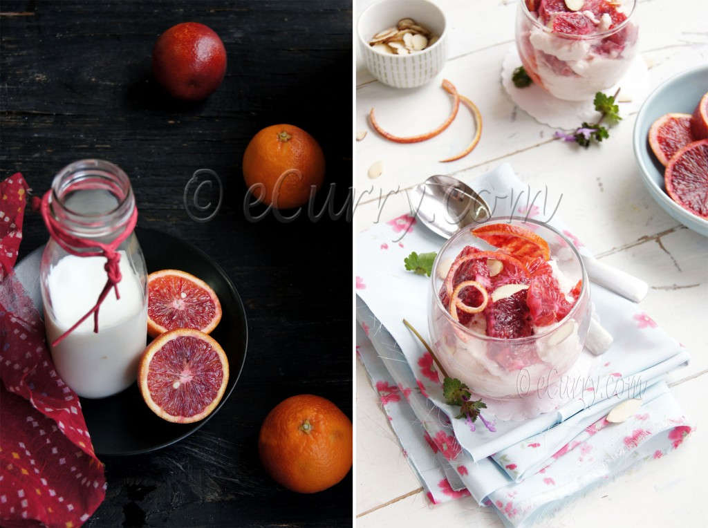 Blood Orange Mousse Diptych