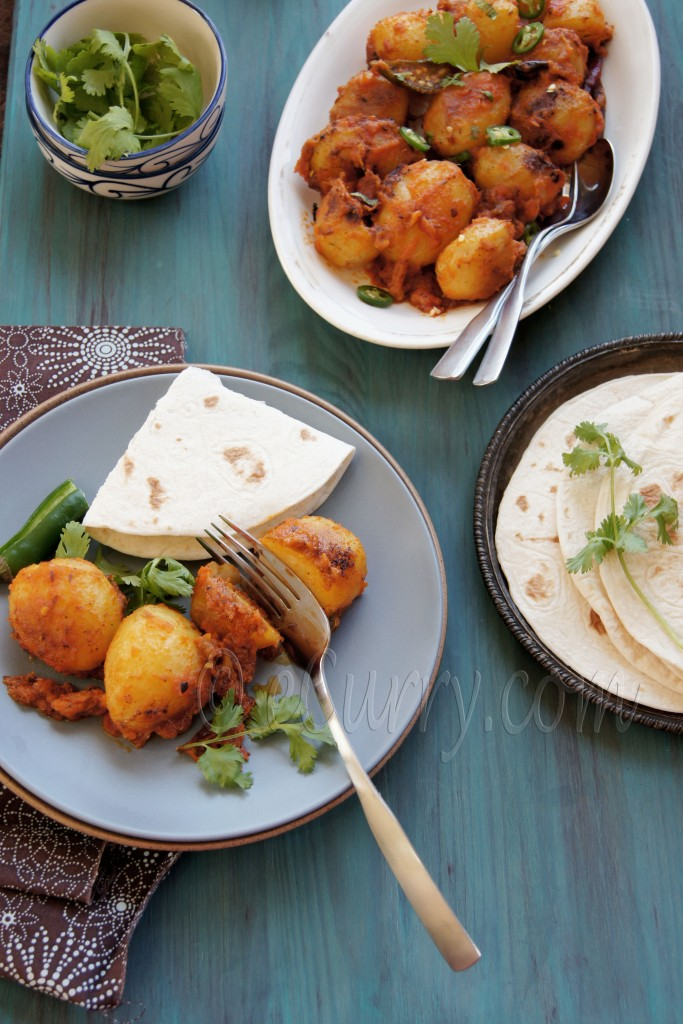 Niramish Dum Aloo- Spice Coated Baby Potatoes