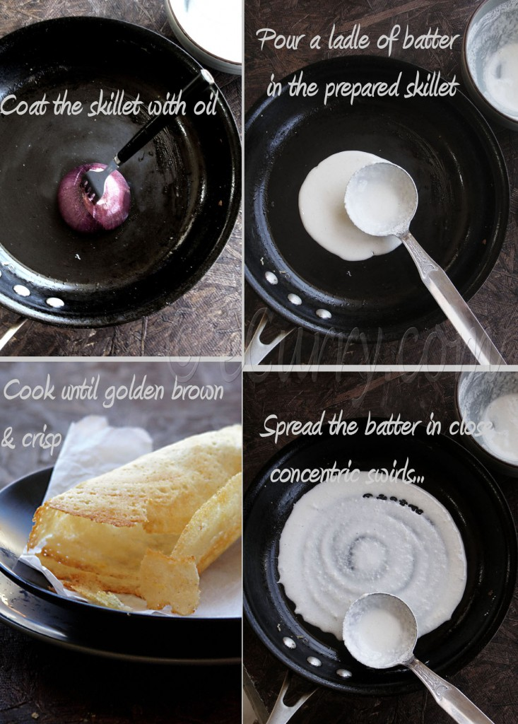 dosa making collage