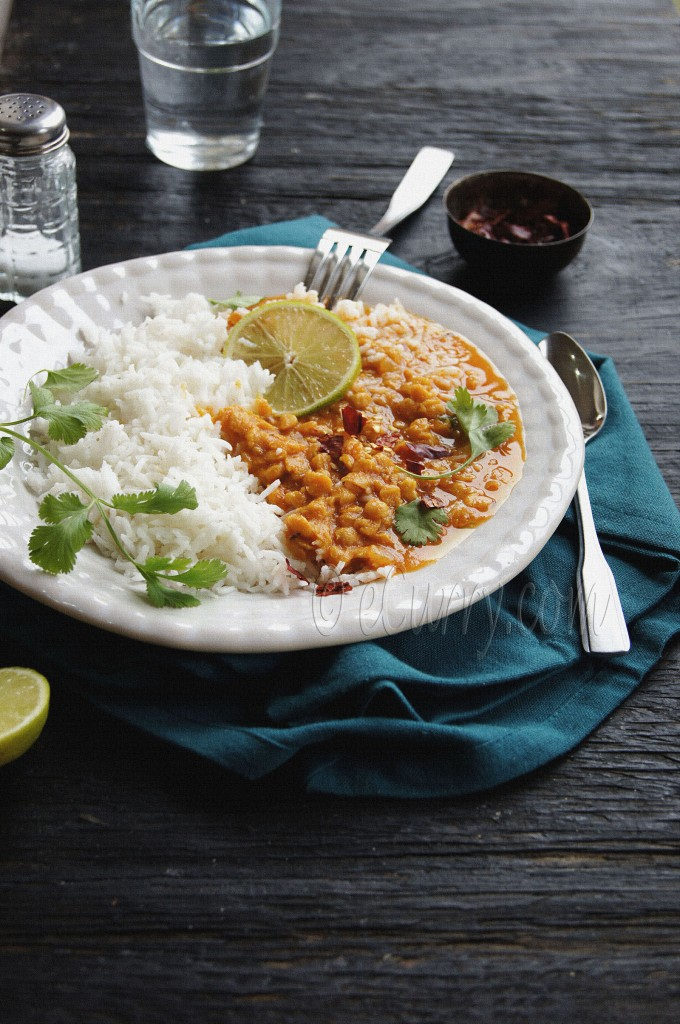 masala chana dal - spiced lentils