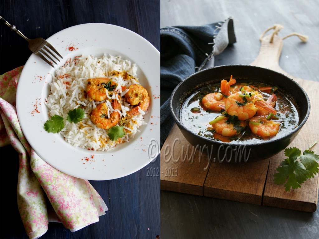 Shrimp with Coriander and Nigella Diptych 4