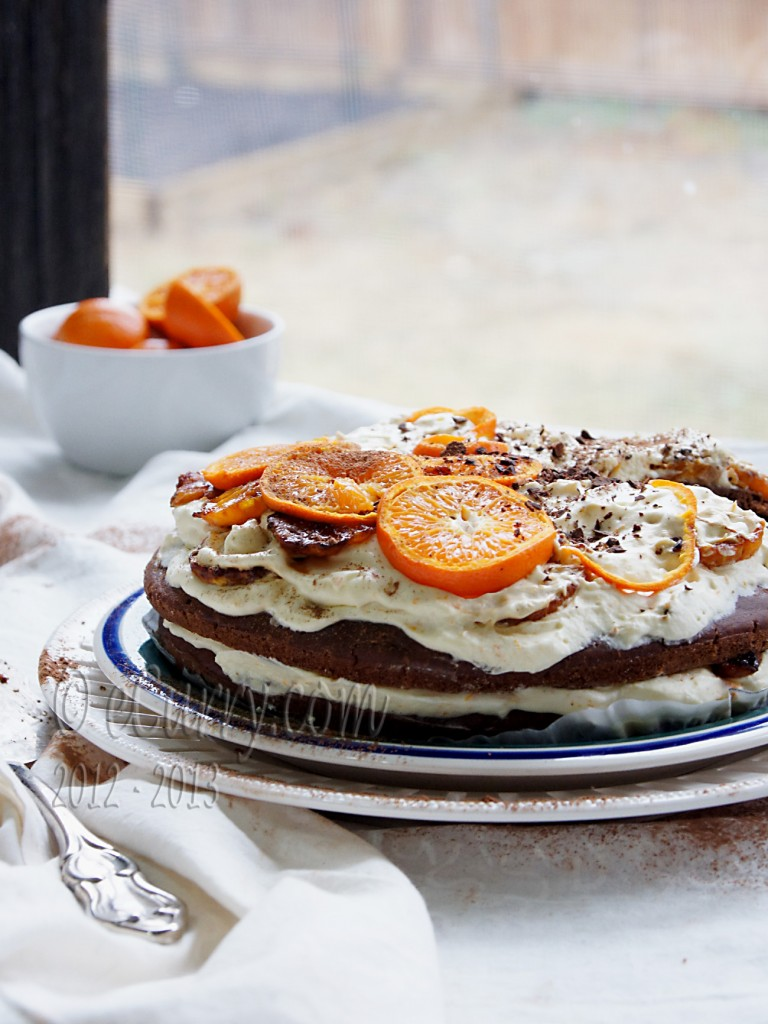 Caramelized Orange and Chocolate Layer Cake