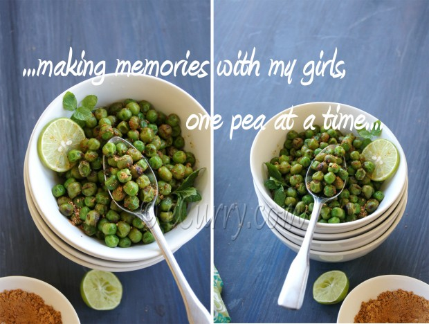 Green Peas Stir Fry with Chaat Masala | eCurry - The Recipe Blog
