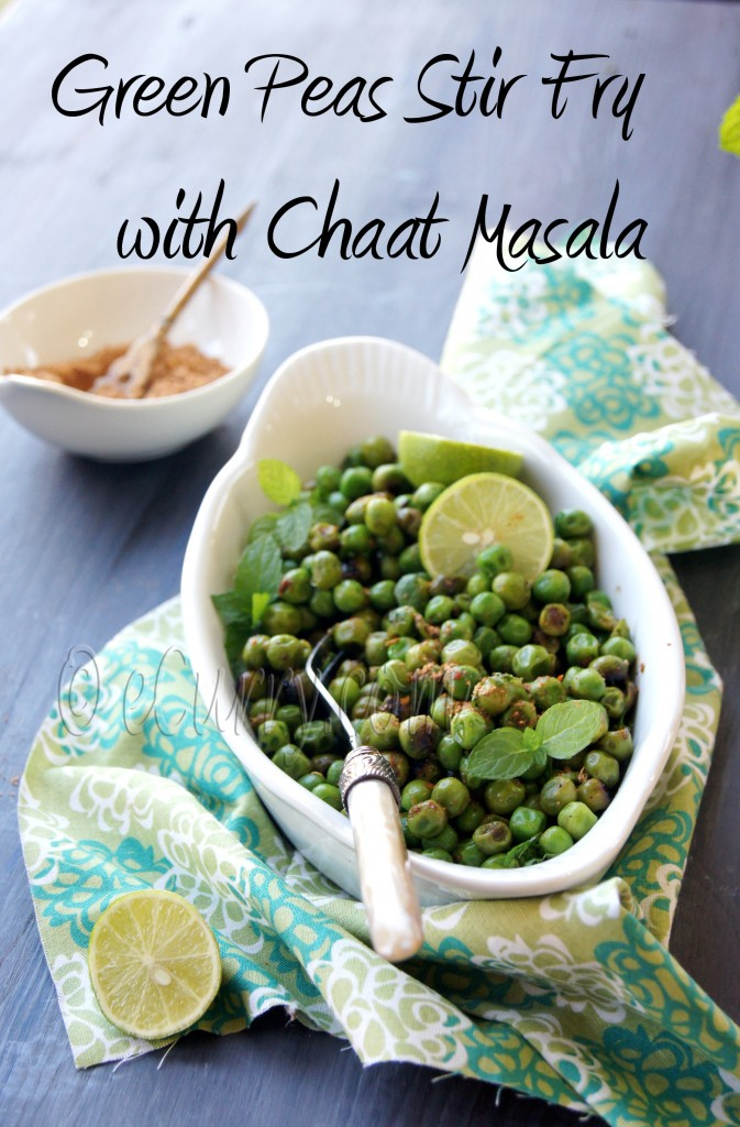 peas with Chaat Masala 2
