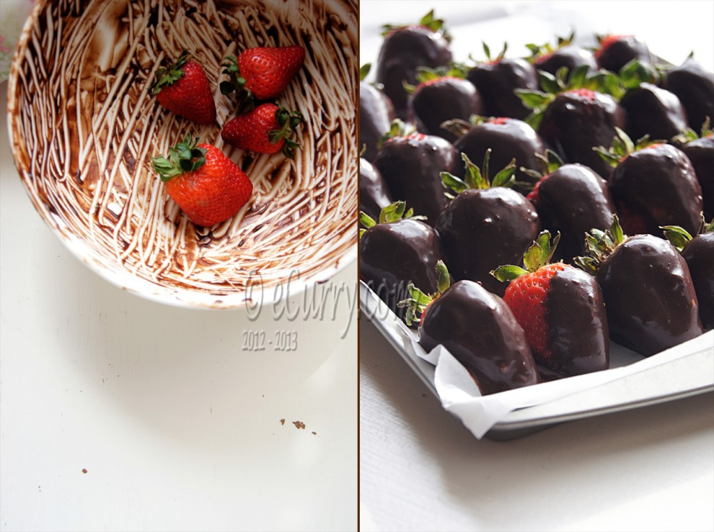 Chocolate Covered Strawberries Diptych 1