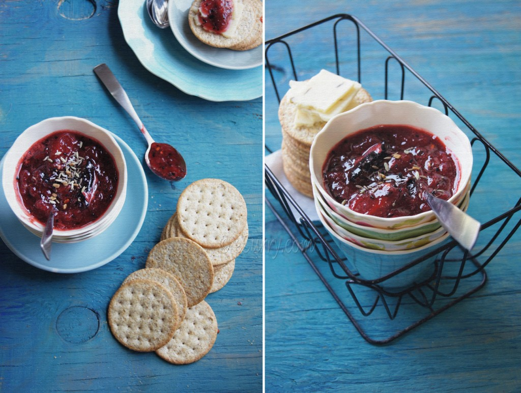 Spiced Strawberry Chutney Diptych 1