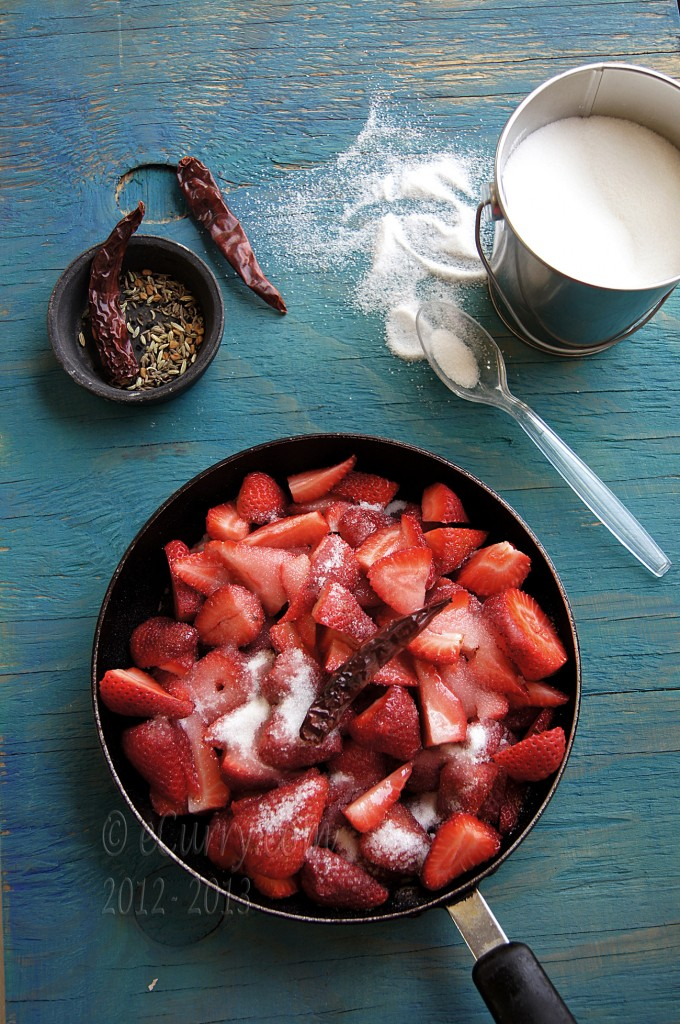 Strawberries and Panch Phoron